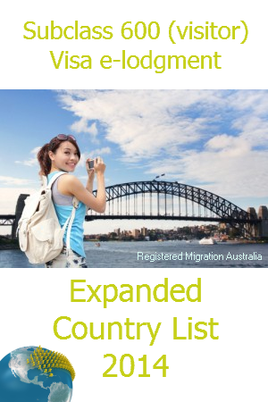 Apply for Australian visitor visas online from MORE countries!